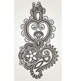 line art ornate flower design Ukrainian traditiona vector image
