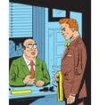 Retro Office Meeting vector image