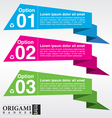 Abstract colorful origami banner EPS10 vector image vector image
