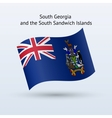 South Georgia and Sandwich Islands flag waving vector image