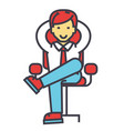 young businessman relaxing boss successful vector image