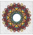 floral round pattern in ukrainian oriental ethnic vector image vector image