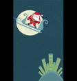 santa in sleigh vector image vector image