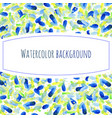 abstract hand paint watercolor background stain vector image