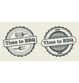 Barbecue and grill label steak house restaurant vector image