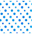 blue watercolor circles seamless pattern vector image