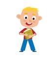 color of pretty blonde boy vector image