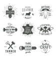 Second set of grey vintage craftsman logo vector image