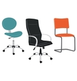 Set of office chairs vector image