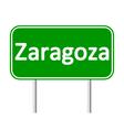 Zaragoza road sign vector image