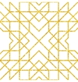 Golden seamless arabic pattern vector image
