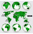 World Map and Globe vector image