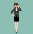 Business woman with binoculars vector image