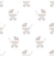 Seamless carriages pattern vector image