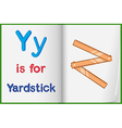 A picture of a yardstick in a book vector image vector image