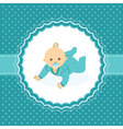 Baby arrival announcement card vector image vector image