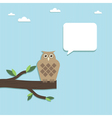paper owl vector image