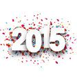 2015 paper confetti sign vector image