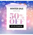 Winter sale banner vector image