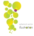 Yellow-green circles increases to the top vector image