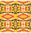 Aztec tribal seamless black yelloe red pattern vector image