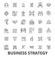 business strategy business plan business vector image