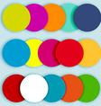 Colorful circles layered-2 vector image