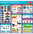 Contryside map elements vector image