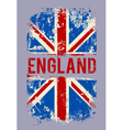 Grunge banner UK national flag vector image