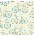 Hand-drawn Bicycles Seamless Pattern Vintage retro vector image