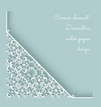 Paper lace corner vector image