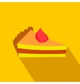 Piece of cake flat icon vector image