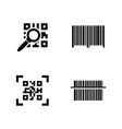 qr code simple related icons vector image