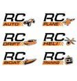 RCicon set vector image