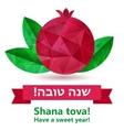 Rosh hashana card vector image