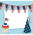 usa party card vector image