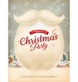Santa s beard EPS 10 vector image