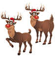Rudolph The Reindeer Two Poses vector image