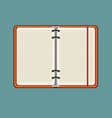 open notebook with white page vector image