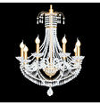 Crystal chandelier vector image