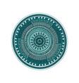 Round ornament mandala pattern over white vector image