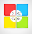 Infographic design color squares vector image