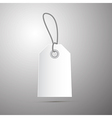 Paper Empty Label Tag with String vector image
