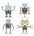 Robots flat icons Robot pictograms vector image