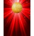 sparkling red disco ball vector image