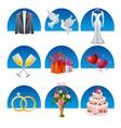 Wedding icon set2 vector image