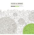 restaurant doodle website template design vector image