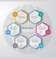 abstract paper infographic elements vector image