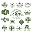 15 Vegetarian Foods Badges vector image
