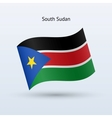 South Sudan flag waving form vector image